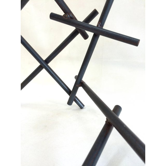 Abstract Abstract Welded Bars Iron Sculpture For Sale - Image 3 of 3