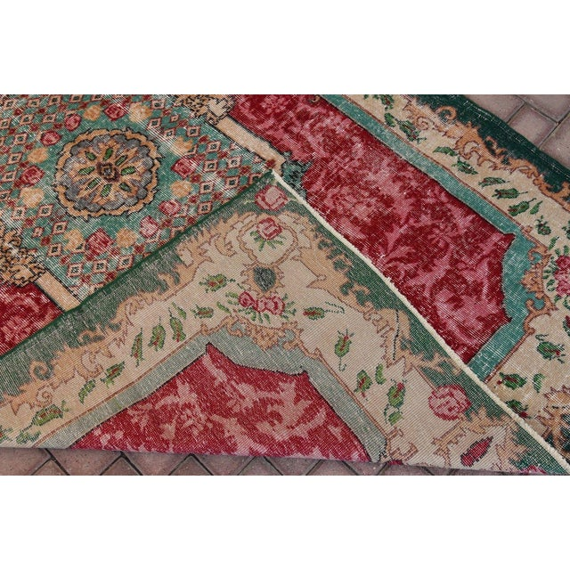 Distressed Turkish Handmade Area Rug - 5′2″ × 8′3″ - Image 6 of 6