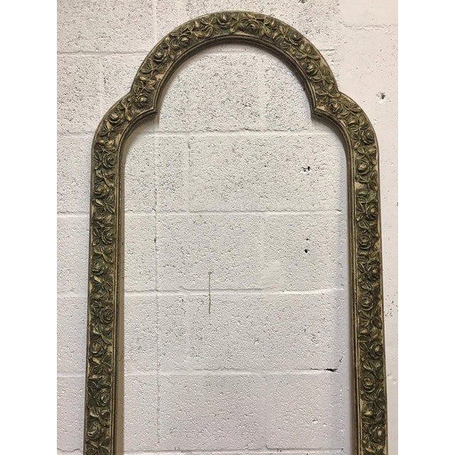 Pair of French Style Architectural Carved Parcel Gilt Rose Motif Wall Appliqués For Sale - Image 4 of 12