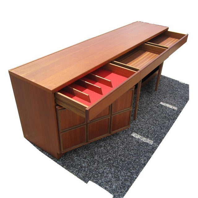 Mid-Century Modern 1960s Mid-Century Modern Teak Credenza With Glass Display Cabinet For Sale - Image 3 of 6