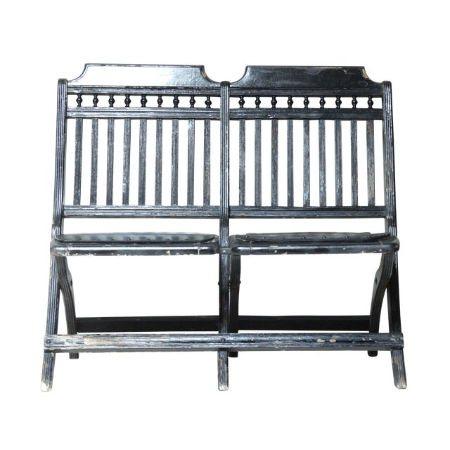 Victorian Stick and Ball Theater Seat/Bench - Image 1 of 3