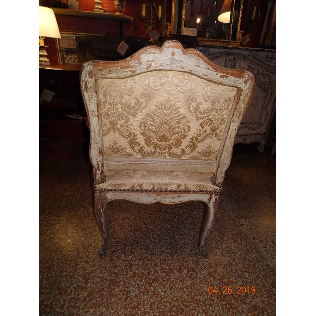 Giltwood Pair of 19th Century Italian Fauteuils For Sale - Image 7 of 13
