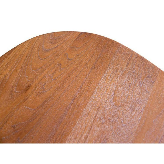 Mid-Century Modern Triangular Teak Folding Table by Peter Hvidt & Orla Mølgaard-Nielsen For Sale - Image 3 of 9
