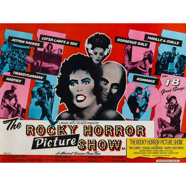 The very rare country-of-origin and original-year-of-release UK quad poster for cult musical comedy The Rocky Horror...