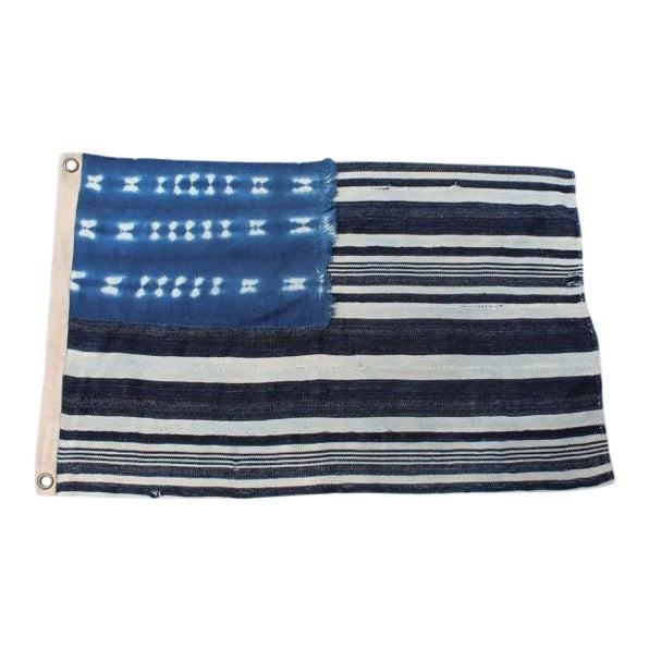 Vintage Indigo Flag For Sale