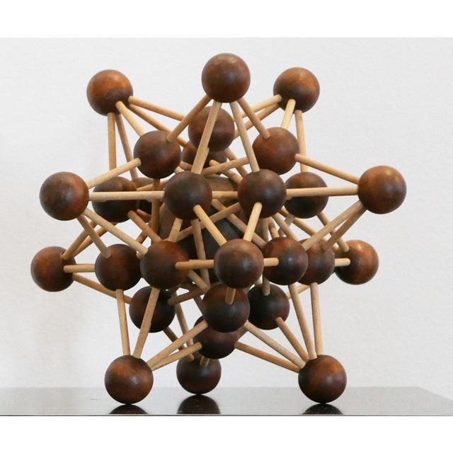 1970s Vintage Molecular Wood Model For Sale - Image 5 of 5