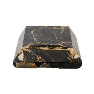 Mid-Century Modern Black Marble Box
