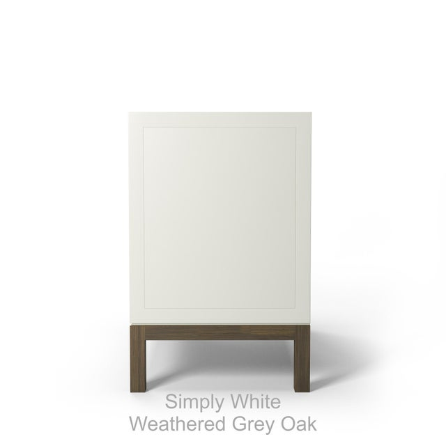 Susana Side Table - Coral Dust, Weathered Gray Oak For Sale - Image 4 of 5