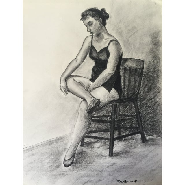 1949 Drawing Ballerina by Costello For Sale