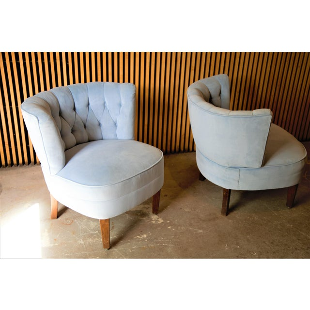 Mid-Century Modern 1940s Swedish Lounge Chairs Attributed to Otto Schulz - a Pair For Sale - Image 3 of 10