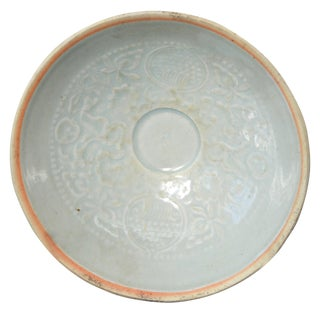 10th-13th Century Song Dynasty Chinese Celadon Porcelain Bowl With Floral Motifs For Sale
