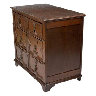 English 1680s Oak Chest of Drawers