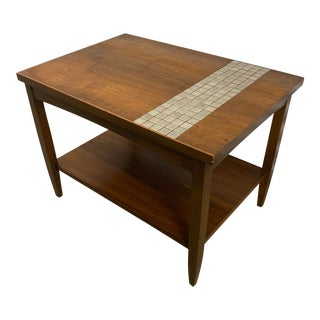 Vintage Mid-Century Modern Lane Monte Carlo Tile Top Table For Sale