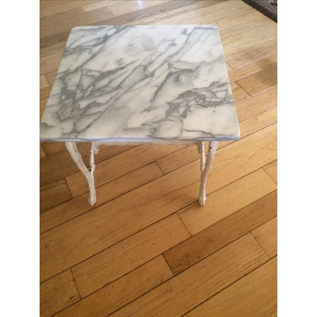 Marble & Cast Iron Side Table - Image 4 of 4