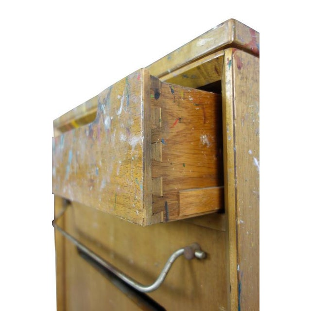 Red Paint Splattered Cabinet From an Artist Studio For Sale - Image 8 of 10