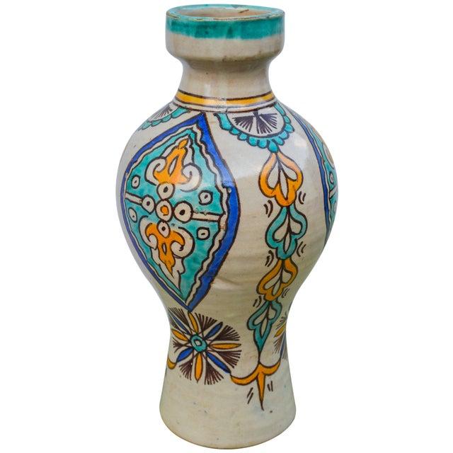 Early 20th Century Moorish Ceramic Vase For Sale - Image 5 of 9