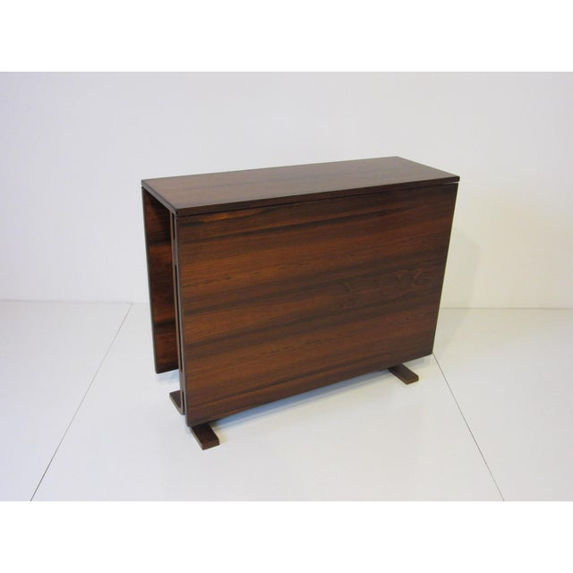 1960s Siguro Ressell Rosewood Gate Leg Dining Table For Sale - Image 5 of 8