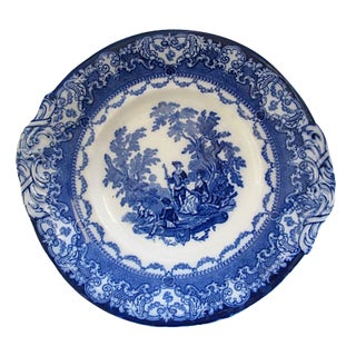 Antique English Doulton Flow Blue Serving Plate