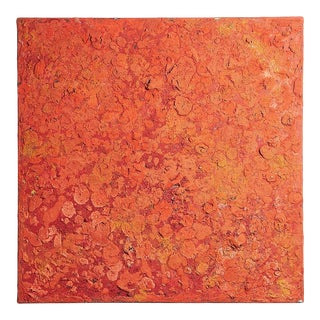 Deeply Textured Oil and Acrylic Painting For Sale