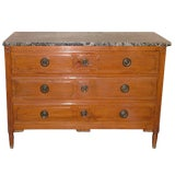 Image of Louis XVI Style Provincial Fruitwood Commode or Chest of Drawers, 19th Century For Sale
