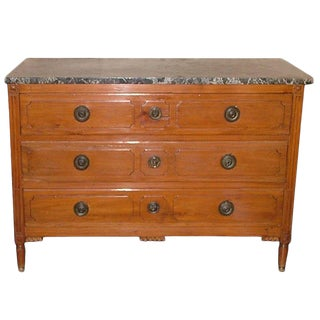 Louis XVI Style Provincial Fruitwood Commode or Chest of Drawers, 19th Century For Sale