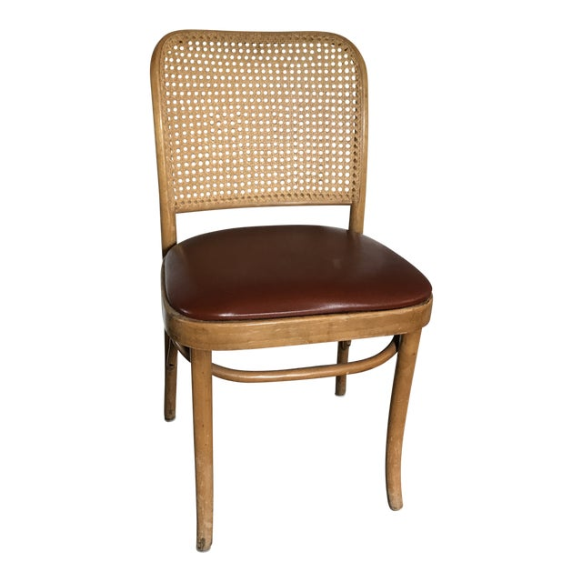 Cane Back Chair in the Style of Josef Hoffman For Sale