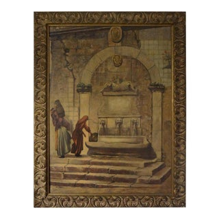 1920s Vintage Louis Saphier Signed Orientalist Scene Oil on Canvas Painting For Sale