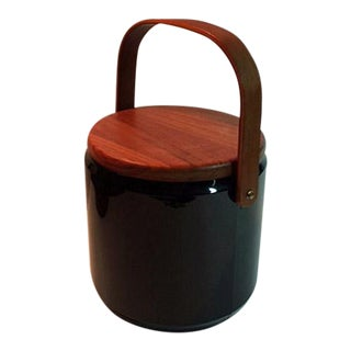 Georges Briard Teak Ice Bucket For Sale