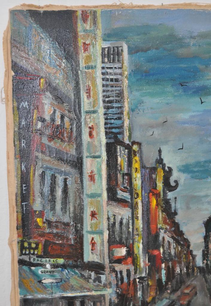 1950s Vintage San Francisco Chinatown Painting By Celia B. Michelena    Image 5 Of 9