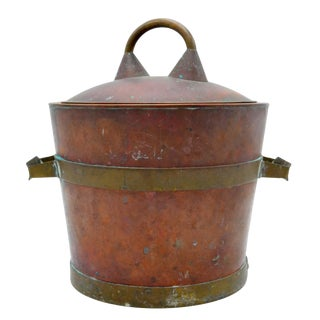 Copper & Brass Ice Bucket For Sale