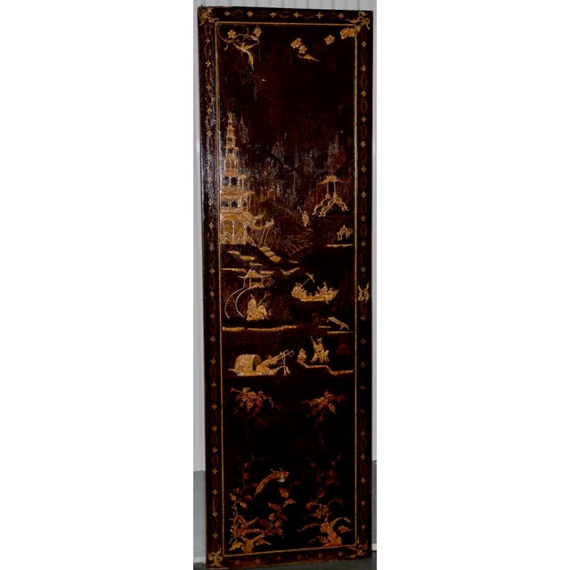 18th to 19th Century Chinese Hand Painted Door Panels - a Pair For Sale - Image 11 of 12