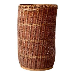 Vintage Hamper Basket For Sale