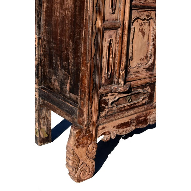 19th Century Antique Rustic Northern Chinese Cabinet For Sale - Image 10 of 13