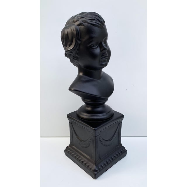 1970s Vintage Ceramic Head Bust of a Boy Sculpture For Sale In Minneapolis - Image 6 of 7