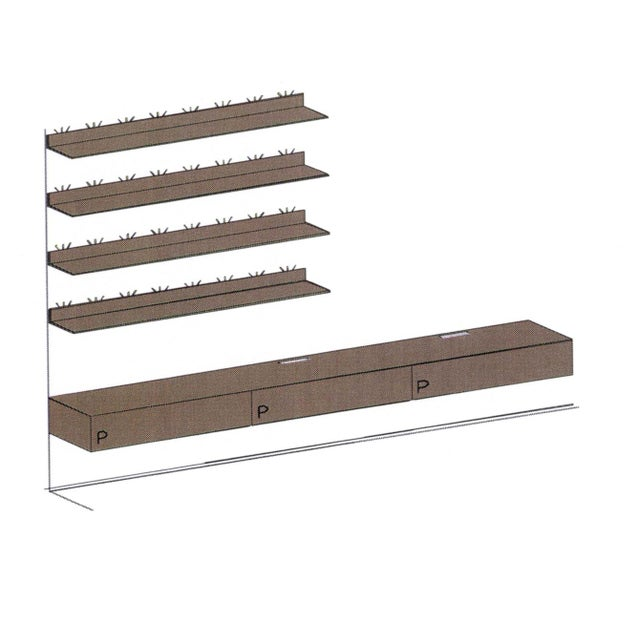 Aluminum Rimadesio Abacus Wall Unit Shelves Drawers - Four Lighted Shelves And Three Touch Latch Drawers For Sale - Image 7 of 10