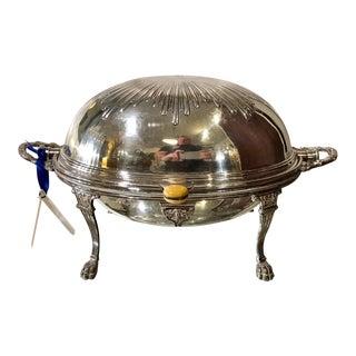 Rare Antique William Hutton & Sons Silver Bun Warmer Entre Dish W Domed Lid For Sale
