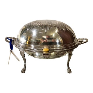 William Hutton & Sons Silver Plated Breakfast Entre Dish W Domed Lid For Sale