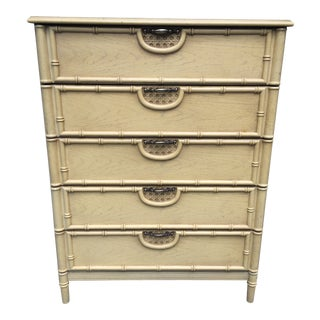 Bassett Faux Bamboo Chest or Drawers