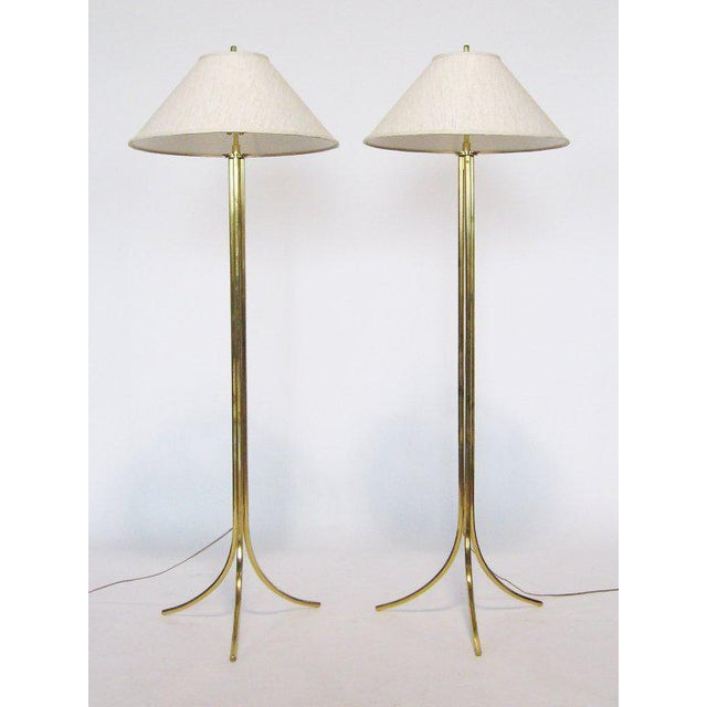 Lang-Levin Brass Floor Lamps by Lang-Levin For Sale - Image 4 of 10