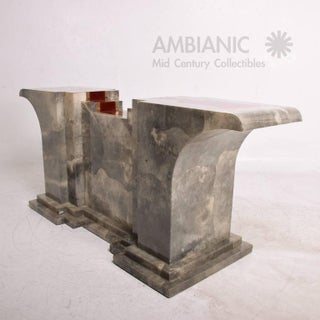 Goatskin Console Table After Aldo Tura Preview