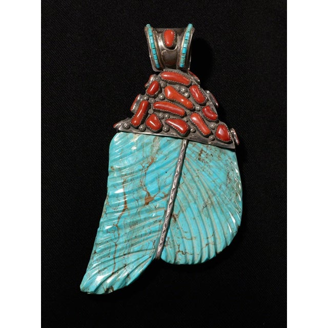 Arts & Crafts American Indian Pendant, Santa Fe, New Mexico, ca. 1950 For Sale - Image 3 of 3