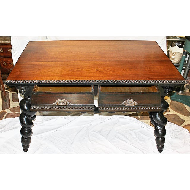 American Barley Twist Writing Desk For Sale - Image 4 of 11