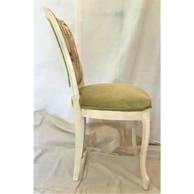 Textile 19th Century Louis XV Château d'Amboise Parcel Gilt Velvet & Tapestry Chairs - a Pair For Sale - Image 7 of 9