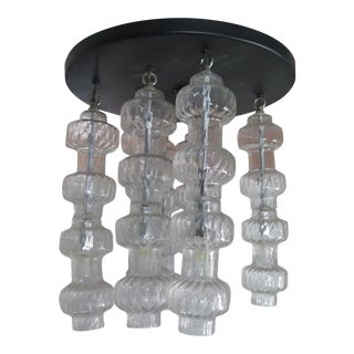 1950's Clear Glass Murano Chandelier