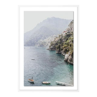 Bagni d'Arienzo II by Natalie Obradovich in White Framed Paper, Medium Art Print For Sale