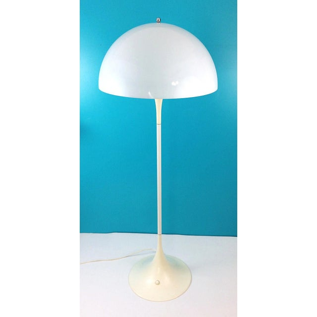 Let there be light! This classic Danish design Louis Poulsen Panthella floor lamp was introduced in 1971 by Verner Panton....