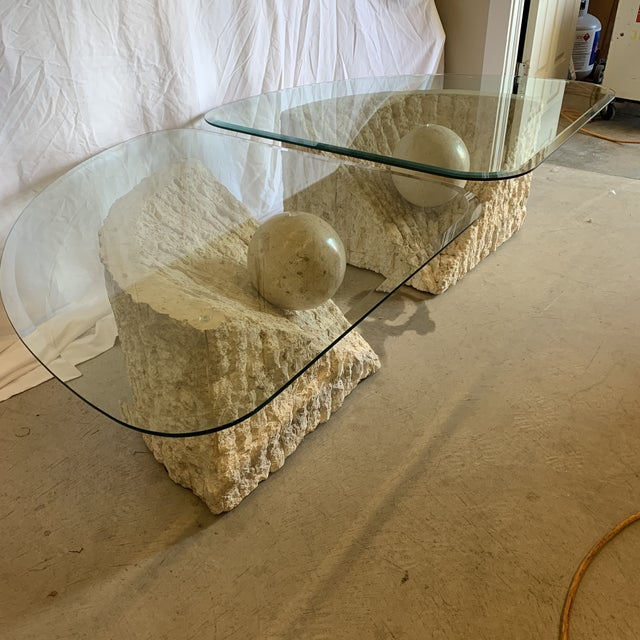 Stone International Vintage Post Modern Tessellated Stone Coffee End Tables - a Pair For Sale - Image 4 of 13