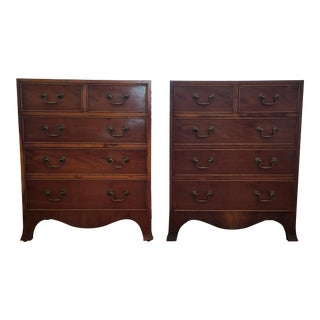 19th Century Georgian Mahogany Nightstands/Bachelor Chests - a Pair For Sale