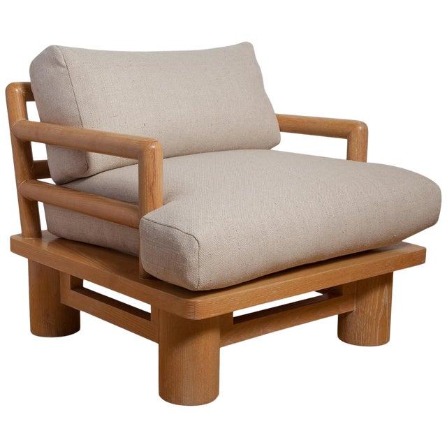Pair of Karl Springer Cerused Oak Dowelwood Chairs For Sale