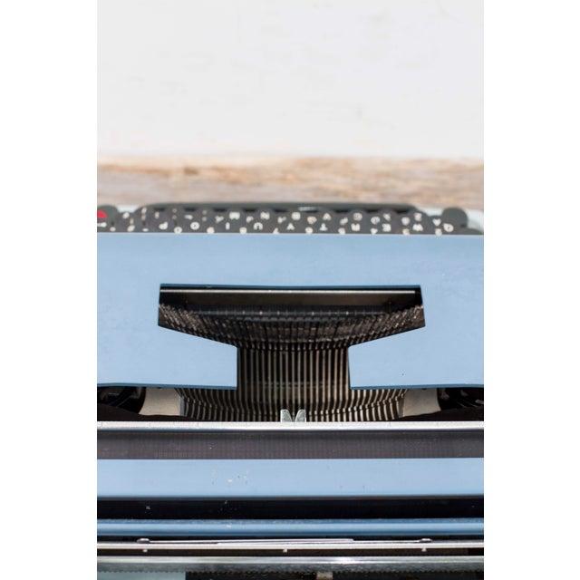 Blue Vintage Underwood 21 Typewriter For Sale - Image 8 of 9